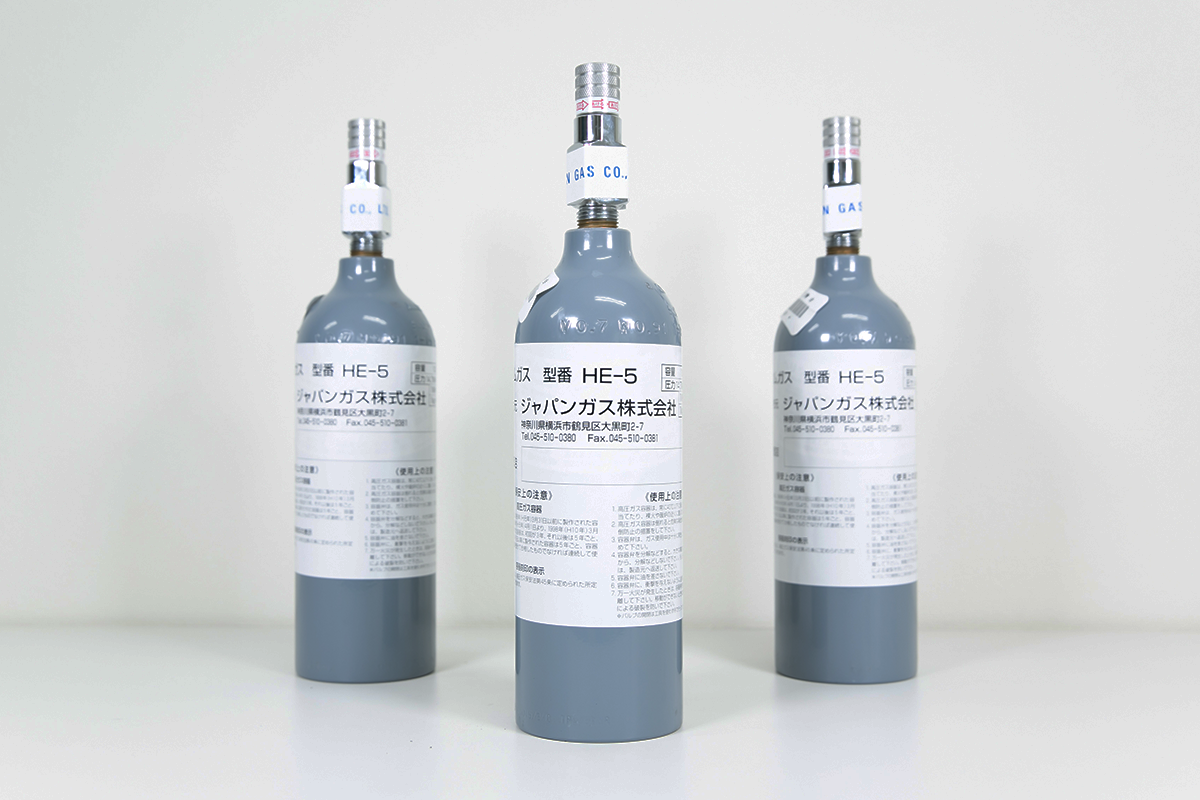 IABPシステム駆動用ヘリウムガスイメージ